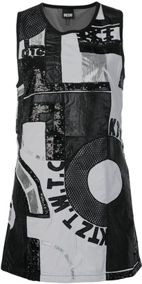 Kokon To Zai Patchwork Mini Dress