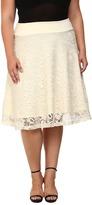 Kiyonna Matinee Lace Midi Skirt Women's Skirt