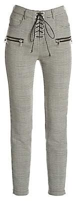 Unravel Project Women's Prince of Wales Lace-Up Trousers