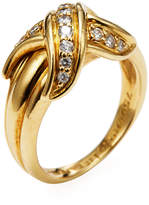 Tiffany & Co. Women's Vintage 18K Yellow Gold & Diamond X Ring