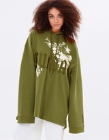 Long Sleeve Graphic Embroidered Hoodie