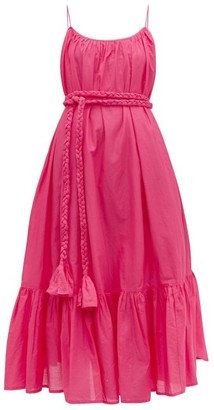 Rhode Resort Lea Tiered Cotton-voile Dress - Pink