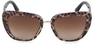Dolce & Gabbana 55MM Squared Cat Eye Sunglasses