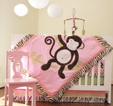 Pam Grace Creations Jolly Molly 10 Piece Crib Bedding Set, Pink, Brown, Green