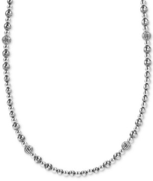 """American West Multi-Bead Statement Necklace in Sterling Silver, 24"""" + 2"""" extender"""