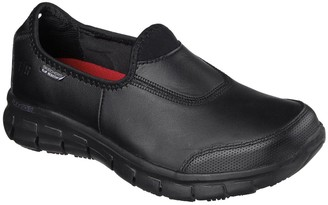Skechers Sure Track Workwear Slip Resistant Trainers - Black