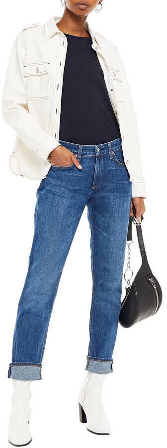 Thumbnail for your product : Rag & Bone Cropped Faded Boyfriend Jeans