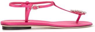 Giannico Crystal-Embellished Satin Sandals