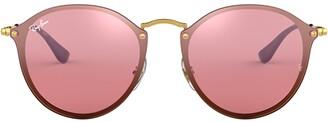 Ray-Ban Blaze Round Frame Sunglasses