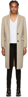 Mackage Beige Long Wool Hens Coat