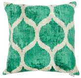 Les Ottomans - Ottoman Silk-velvet Cushion - Green Multi