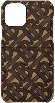 Burberry Brown Monogram Rufus iPhone 11 Pro Case