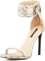 Rachel Zoe Melina Two-Tone Snakeskin Sandal