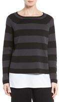 Eileen Fisher Women's Crop Silk & Organic Cotton Top