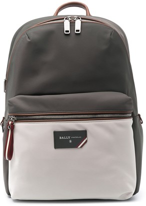 Bally Logo-Plaque Leather Backpack