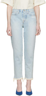 Off-White Off White Blue Slim Fit Jeans