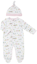 John Lewis Rabbit Sleepsuit and Hat, White