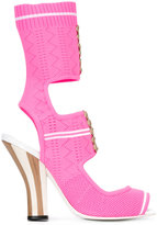 Fendi knitted open-toe sandals - women - Calf Leather/Leather/Polyester/rubber - 37