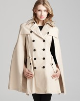 Dawn Levy Kate Double Breasted Trench Coat with Cape Detail
