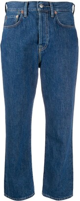 Acne Studios Mece straight-leg cropped jeans