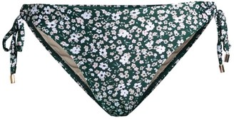 Peony Swimwear Soiree Floral Lace-Up Bikini Bottom