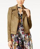 Catherine Malandrino Faux-Suede Moto Jacket