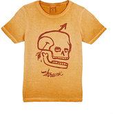 Scotch Shrunk Skull-Graphic T-Shirt-ORANGE