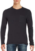 Selected Long Sleeved Patch Pocket Tee