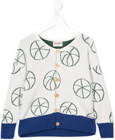 Bobo Choses beach ball intarsia cardigan - kids - Cotton/Polyamide - 4 yrs