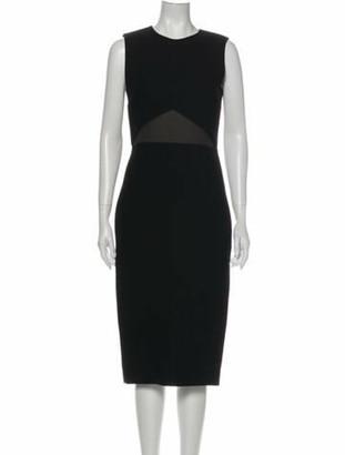 Jason Wu Crew Neck Midi Length Dress Black