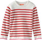 Joe Fresh Toddler Girls' Stripe Crew Neck Sweater, Cream (Size 3)
