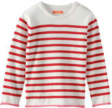 Joe Fresh Toddler Girls' Stripe Crew Neck Sweater, Cream (Size 5)