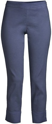 120% Lino Side Zip Capri Pants