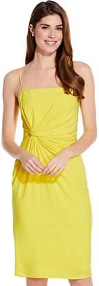 Adrianna Papell Sunbeam Wrap Detail Jersey Midi Sheath Dress