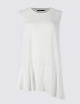 Limited Edition Asymmetric Hem Round Neck Sleeveless Tunic