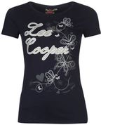 Lee Cooper Womens Glitter T Shirt Summer Casual Short Sleeve Round Neck Tee