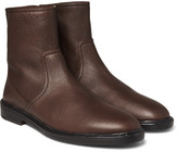 Burberry - Grained-leather Boots