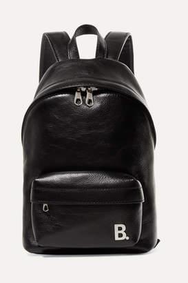 Balenciaga Xxs Leather Backpack - Black