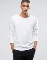 Selected Long Sleeve Top with Raw Edge