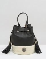 Tommy Hilfiger Gigi Hadid Mini Bucket Bag With Shearling