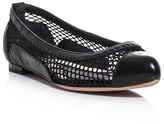 McQ by Alexander McQueen Pointed mesh flats
