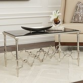 The Well Appointed House Global Views Quatrefoil Rectangular Coffee Table in Nickel