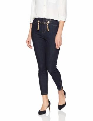 GUESS Women's Gold Tipped Marilyn 3 Zip Jean