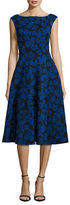 Betsey Johnson Floral-Jacquard Midi Fit-and-Flare Dress