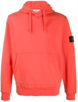 Stone Island logo patch hoodie