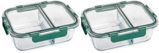 Core Home Pine TruDivide 32 oz. Silicone Seal Glass Food Storage Container - Set of 2