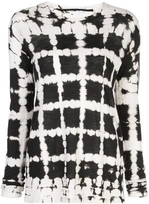 Proenza Schouler grid print longsleeved T-shirt