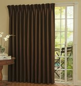 Eclipse Thermal Blackout Patio Door Curtain Panel, Chocolate