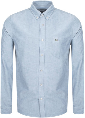 Lacoste Oxford Long Sleeved Shirt Blue
