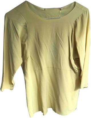 Marni Yellow Silk Top for Women